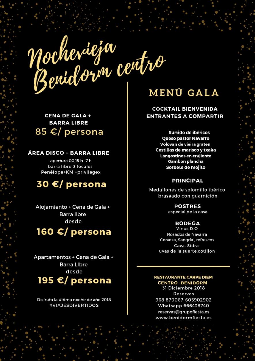 Menu Gala Nochevieja - Restaurante Carpe Diem