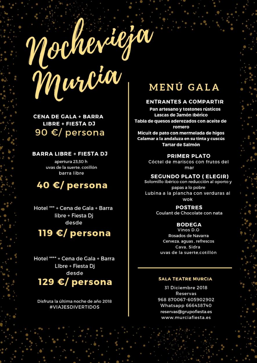 Menu Gala Nochevieja - Discoteca Teatre