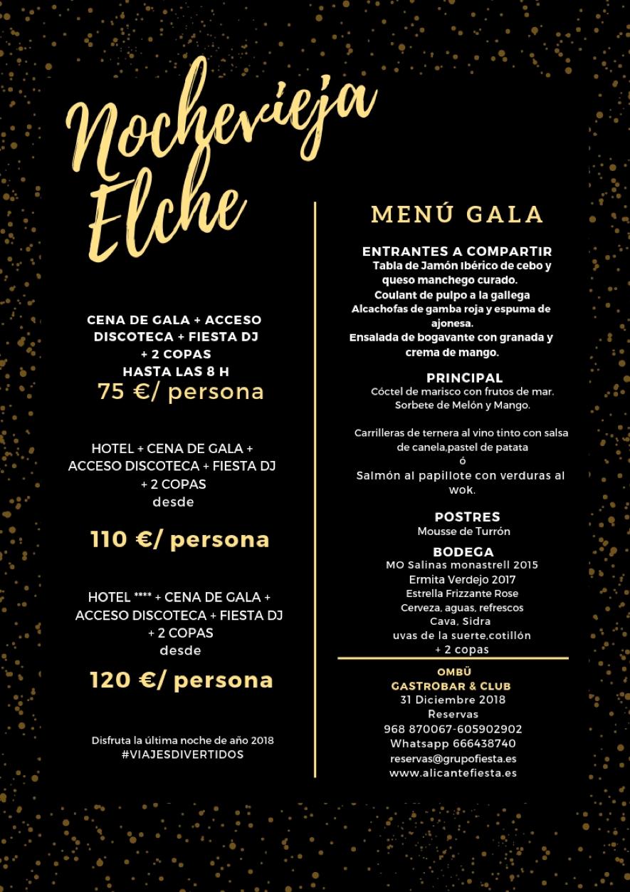 Menu Gala Nochevieja - Ombü Gastrobar