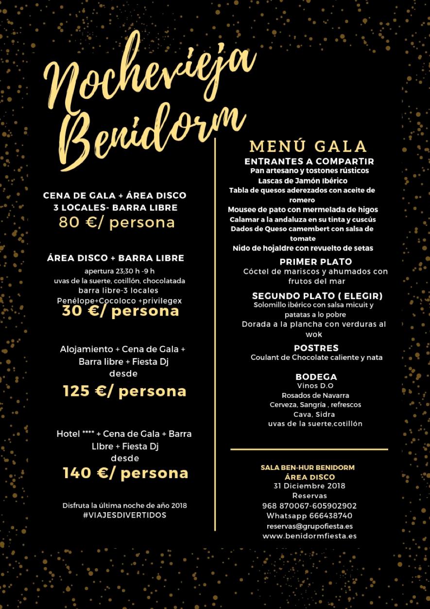 Menu Gala Nochevieja - Sala Ben-Hur