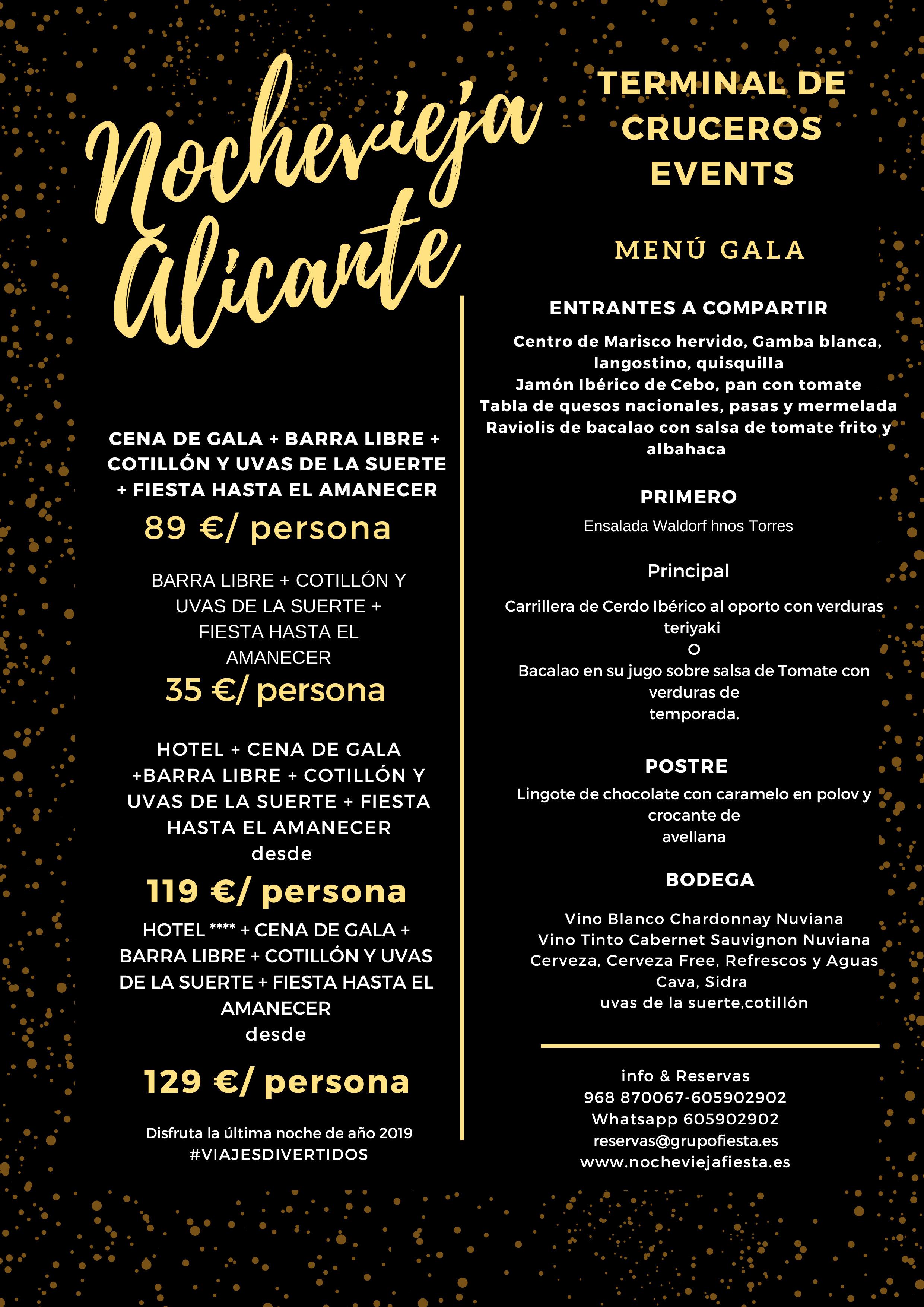 Packs Alojamiento Cena Gala